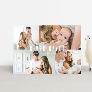 Indie Birth Announcement Petite Cards
