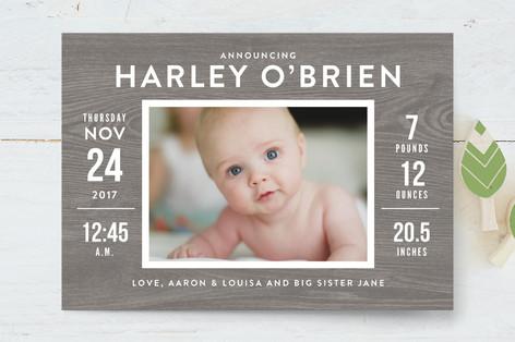 Barnwood Birth Announcement Petite Cards