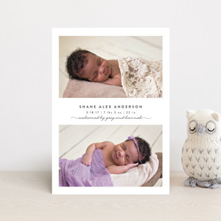 Simple & Sweet Birth Announcement Petite Cards