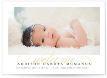 Graceful Entrance Birth Announcement Petite Cards