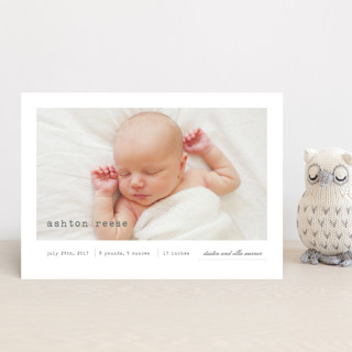 On Display Birth Announcement Petite Cards