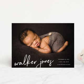 Scripted Birth Announcement Petite Cards