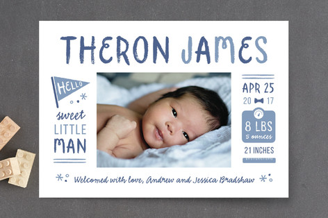Spunky Birth Announcement Petite Cards