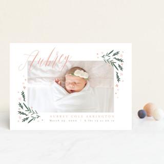 Dainty Botanicals Birth Announcement Petite Cards