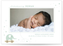 elephant toy Birth Announcement Petite Cards