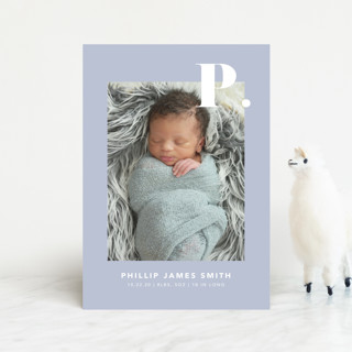 Bold Capital Birth Announcement Petite Cards