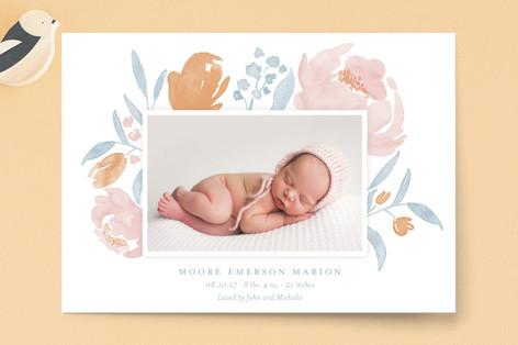 Precious Petals Birth Announcement Petite Cards