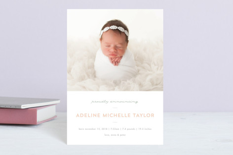 Sweet News Birth Announcement Petite Cards