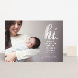 hi. Birth Announcement Petite Cards