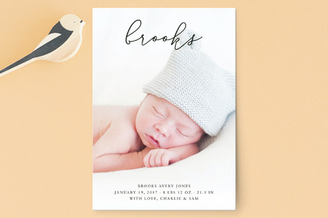 My Name Birth Announcement Petite Cards