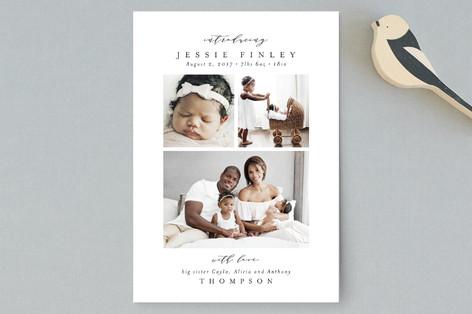 Elegant Collage Birth Announcement Petite Cards