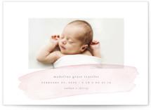 Soft Stroke Birth Announcement Petite Cards