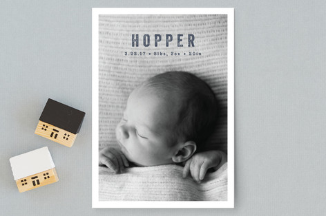 Mini Modern Birth Announcement Petite Cards