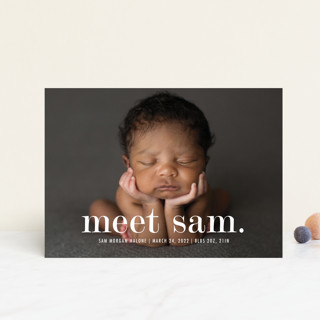 Meeting Birth Announcement Petite Cards