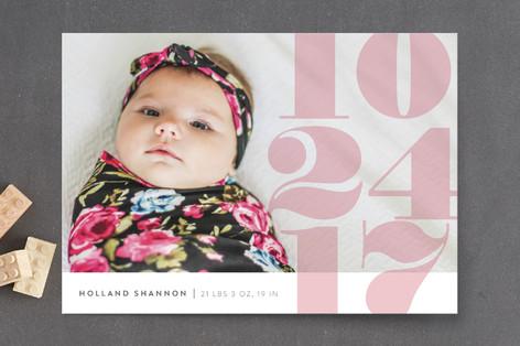 Numerals Birth Announcement Petite Cards