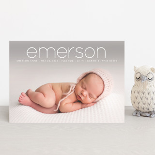 clean Birth Announcement Petite Cards