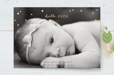 Confetti Shower Birth Announcement Petite Cards