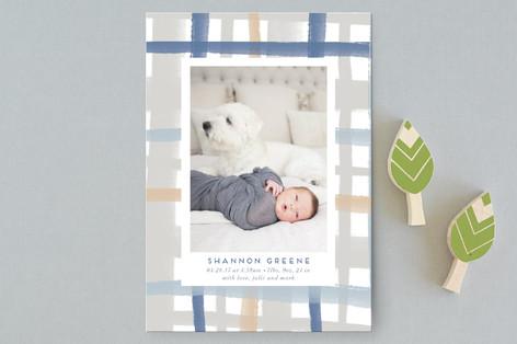 Rad Plaid Birth Announcement Petite Cards