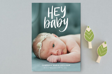 Hey! Birth Announcement Petite Cards