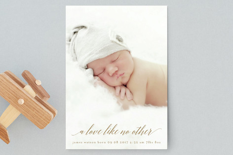 love like no other Birth Announcement Petite Cards