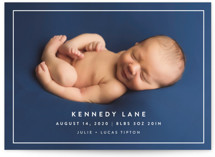 Modern Frame Birth Announcement Petite Cards