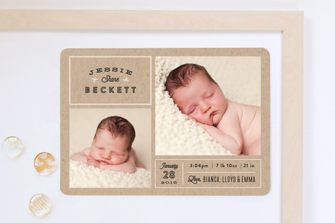 Headlines Birth Announcement Magnets