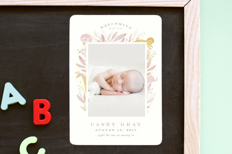 Safari Birth Announcement Magnets