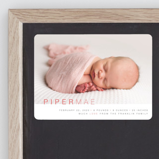 Baby Sophisticate Birth Announcement Magnets