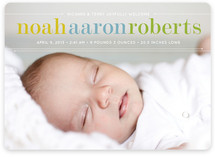 Classy Noah Birth Announcement Magnets