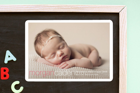 Taylor Birth Announcement Magnets