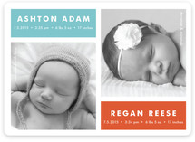 Modern Multiples Birth Announcement Magnets