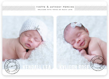 Double Stamped Birth Announcement Magnets