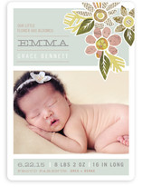 Heirloom Bloom Birth Announcement Magnets