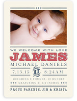 Wild West Baby Birth Announcement Magnets