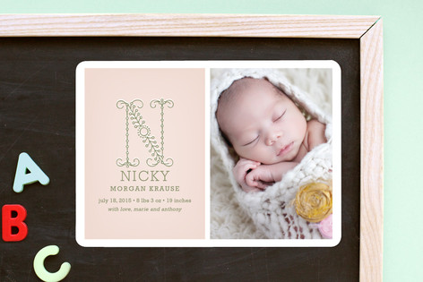 Initial Birth Announcement Magnets