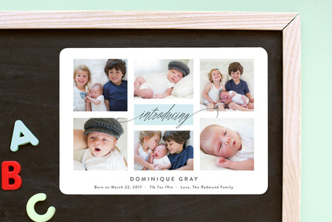 Refreshing Gallery Birth Announcement Magnets