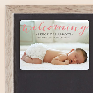 Welcoming Birth Announcement Magnets