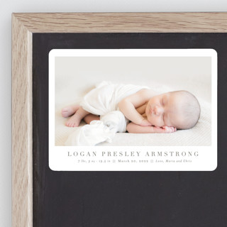 Menil Birth Announcement Magnets