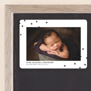 Modern Plus Birth Announcement Magnets