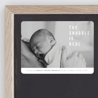 The Snuggle is Real Birth Announcement Magnets
