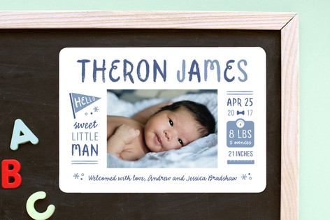 Spunky Birth Announcement Magnets