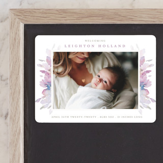 Spring Blooms Birth Announcement Magnets