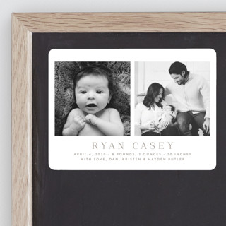 Pure and Simple Birth Announcement Magnets