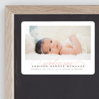 Graceful Entrance Birth Announcement Magnets