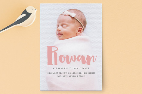 Sweet Name Birth Announcement Postcards