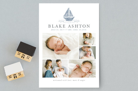SailboatDreams Birth Announcement Postcards
