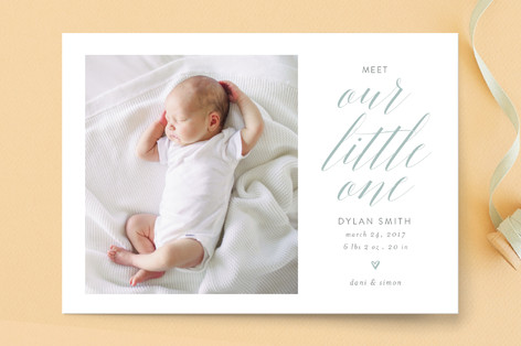 Sweet dreams, sweet pea Birth Announcement Postcards