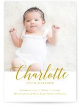 Big Script Birth Announcement Postcards