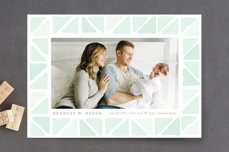 Tiny Triangles Birth Announcement Postcards