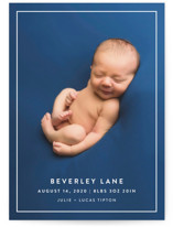 Modern Frame Birth Announcement Postcards